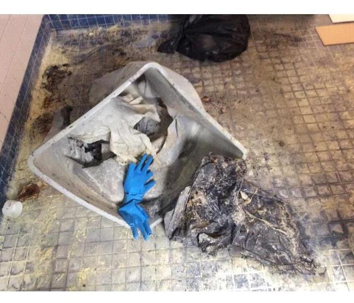 Fire in School Bathroom Before