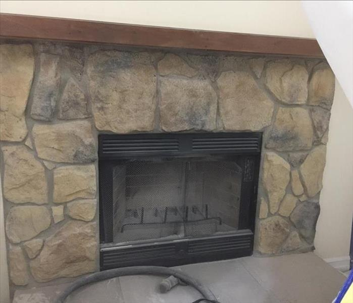 Soda Blasting Cleans Fireplace After